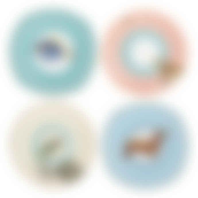 Yvonne Ellen Set of Four Animal Cake Plates