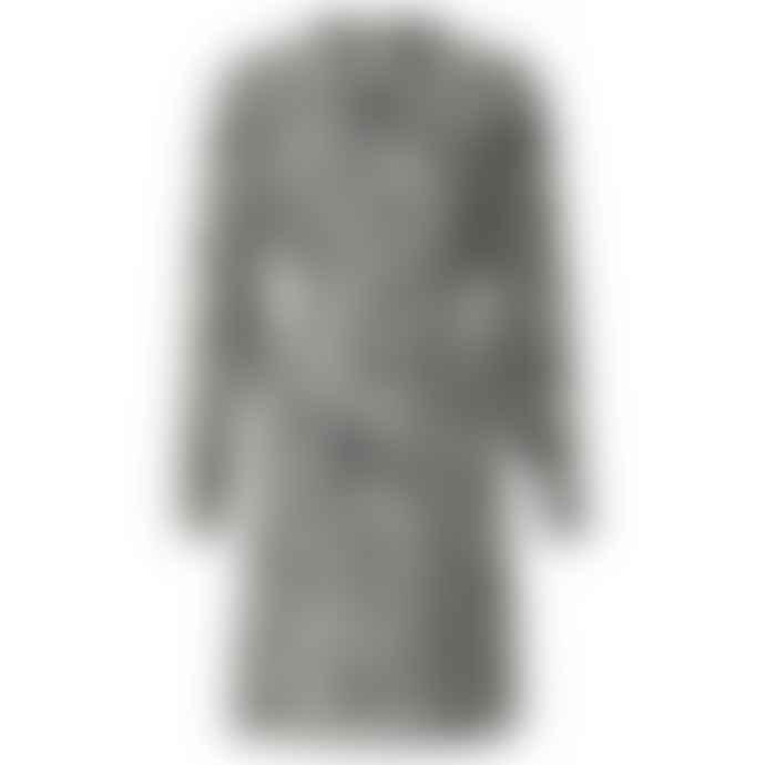 Yaya Belted Midi Dress With Ruffled Collar