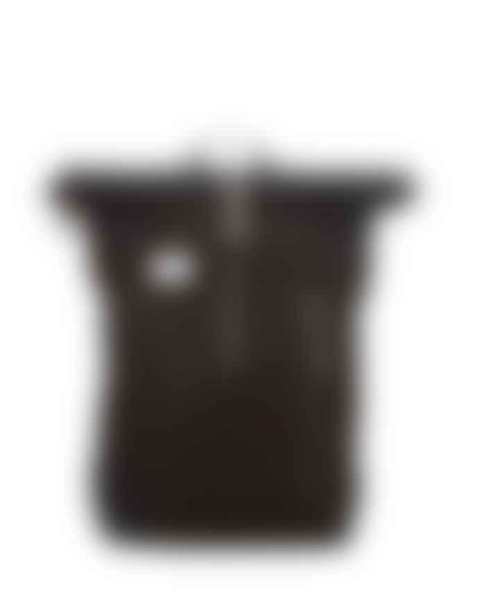 Sandqvist  Black With Black Leather Dante Backpack