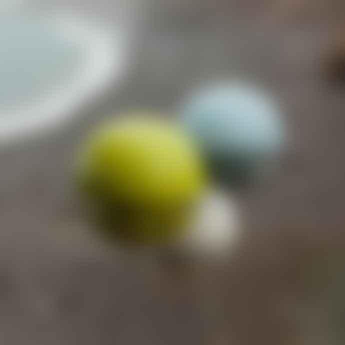 Green & Blue White Birdball Seed Feeder