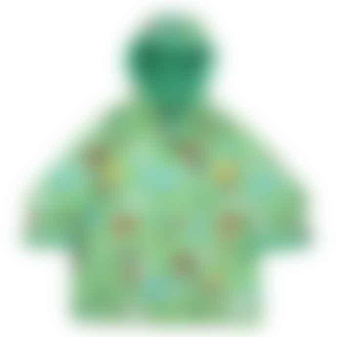 Powell Craft Green Children's Farm Print Hooded Raincoat