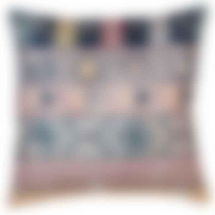 Pink/Blue/Indigo Aztec Cushion