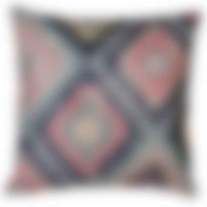Pink/Blue/Indigo Diamond Cushion
