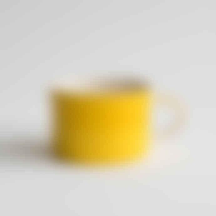 Musango Handmade Tumeric Wide Mug - Plain Wash