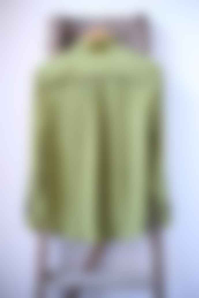 Bella Freud  Moss Green Little Prince Stelline Silk Shirt