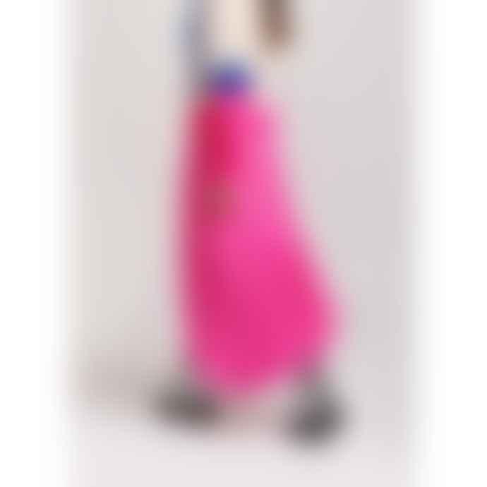 Essentiel Antwerp Neon Pink Vadorable Polka Dot Midi Skirt