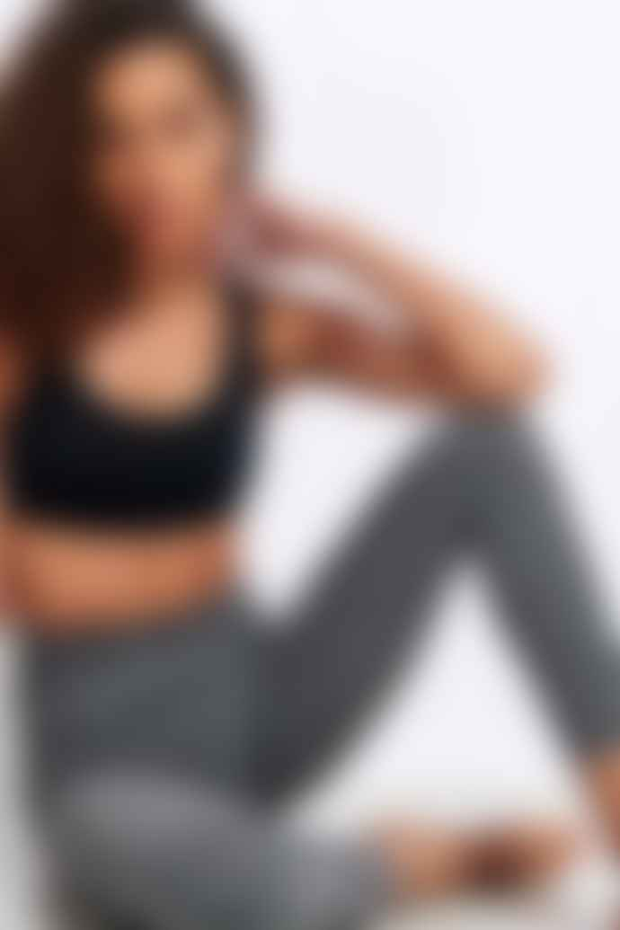 Beyond Yoga Spacedye Out Of Pocket High Waisted Midi Legging Black White