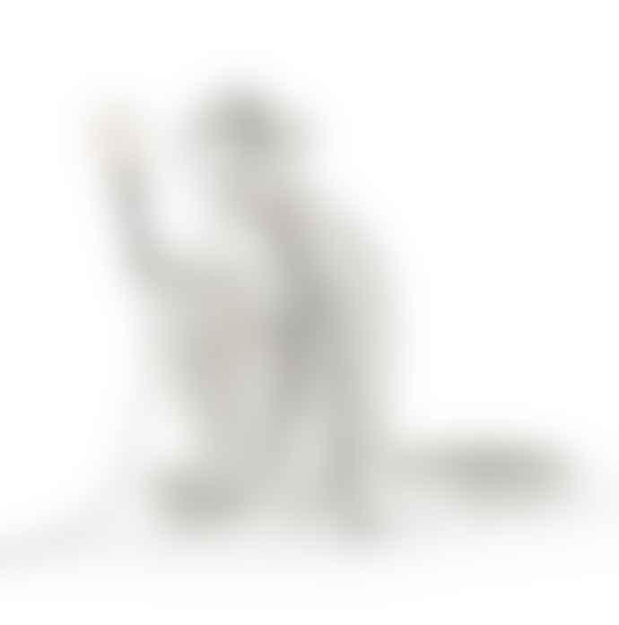 Seletti White Sitting Monkey Lamp