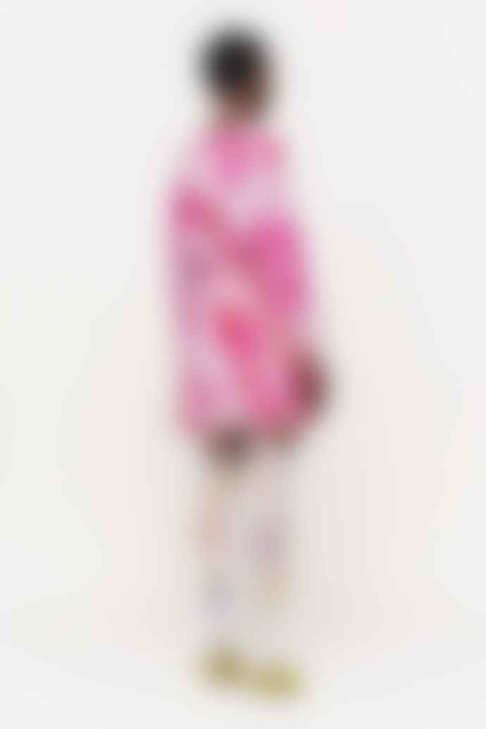 Stine Goya Coco Silk Dress in Rosegarden Pink