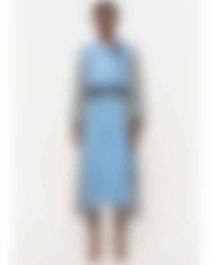 Stine Goya Felisa Plaid Blue Dress