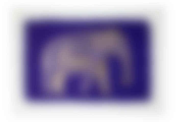Gold Foil Elephant Set of 5 Notecards