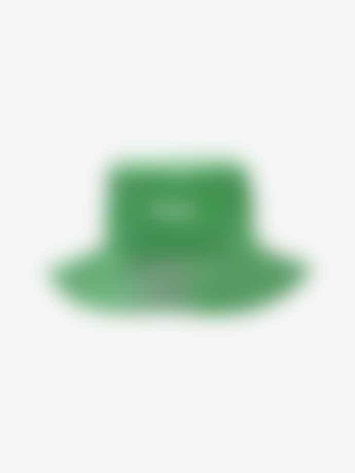 Ganni Island Green Moire Accessories Bucket Hat
