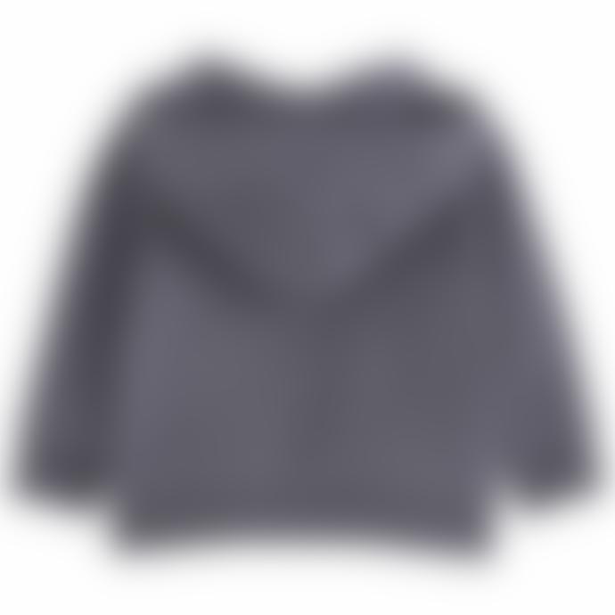 Emile Et Ida Grey Fleece Bitumen Zipped Sweatshirt