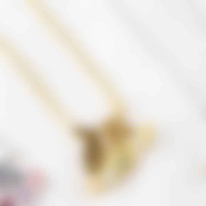 Amanda Coleman 22 Ct Gold Vermeil Kissing Bunnies Necklace