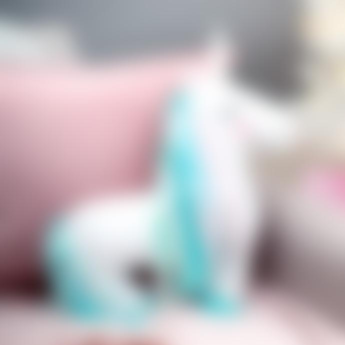 Sass & Belle  White Rainbow Unicorn Decorative Cushion