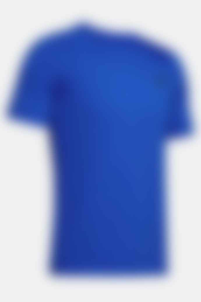 Under Armour Rush Heat Gear Fitted Short Sleeve Blue T Shirt