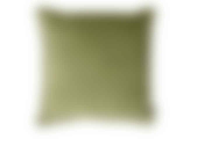 Lime Light 50 x 50cm Green Velvet Cushion