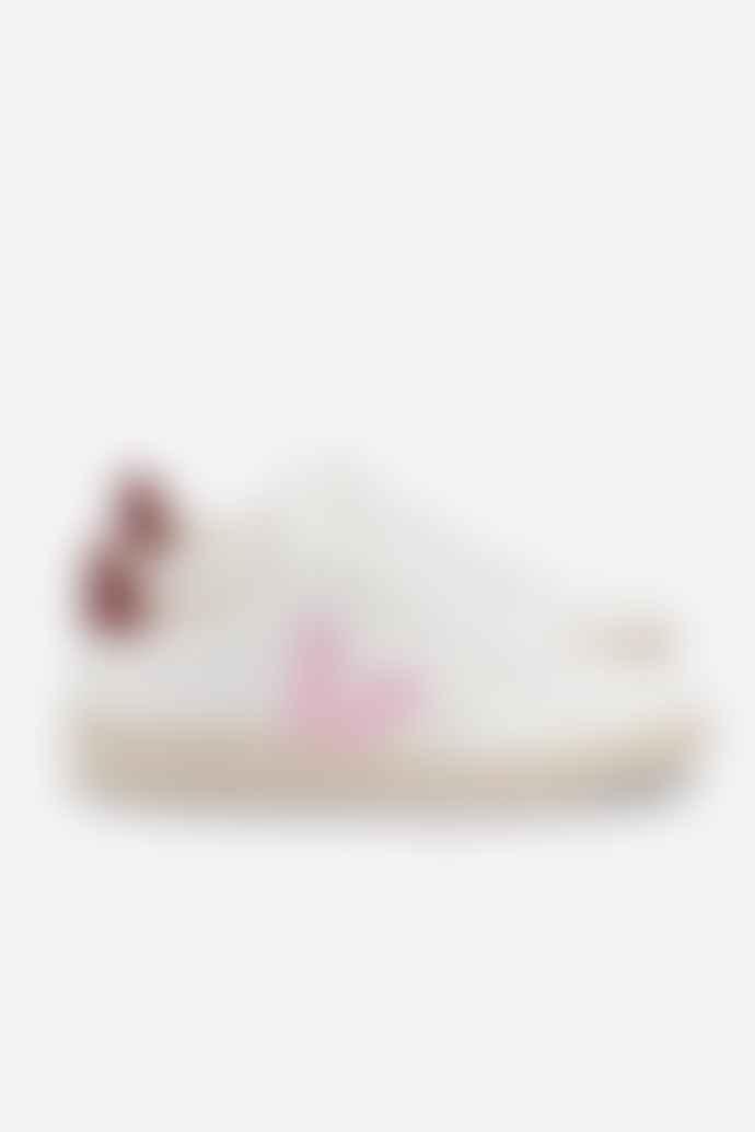 Veja V 12 Extra White Guimauve Marsala Womens Shoes