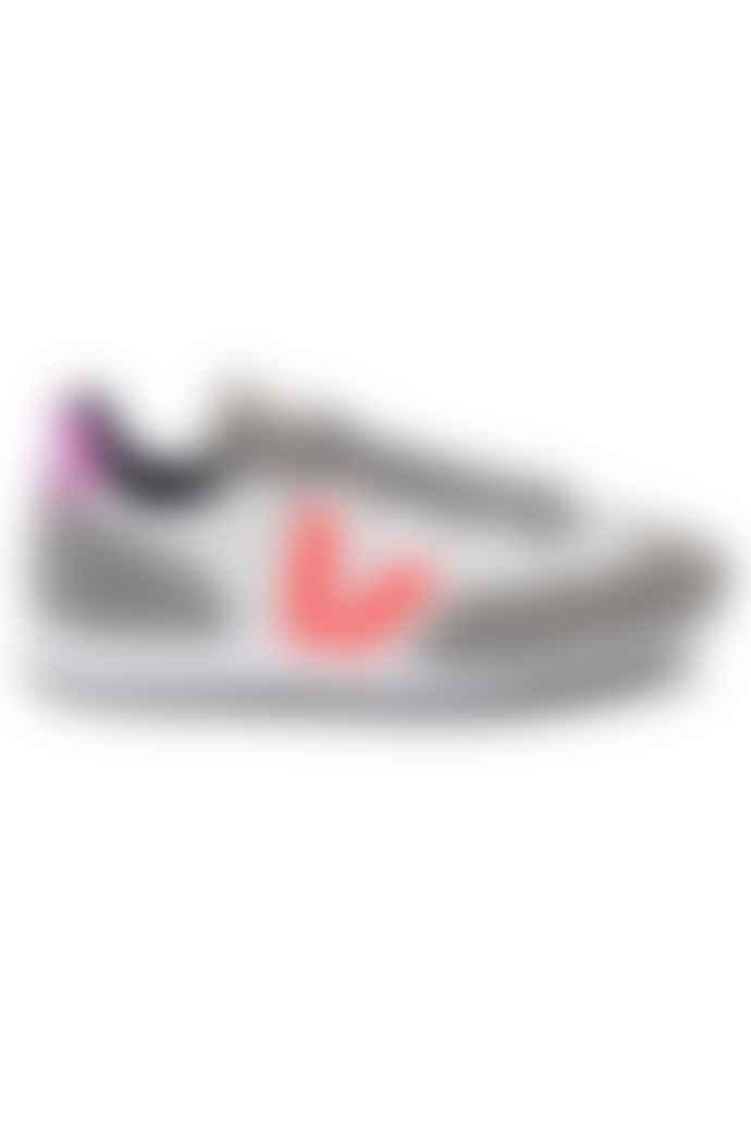 Veja Rio Branco Gravel Orange Fluo Ultraviolet Womens Shoes