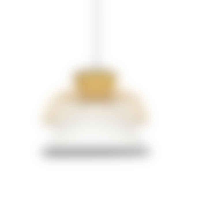 Market Set Yellow and White Linen Pendant Lamp Mekko