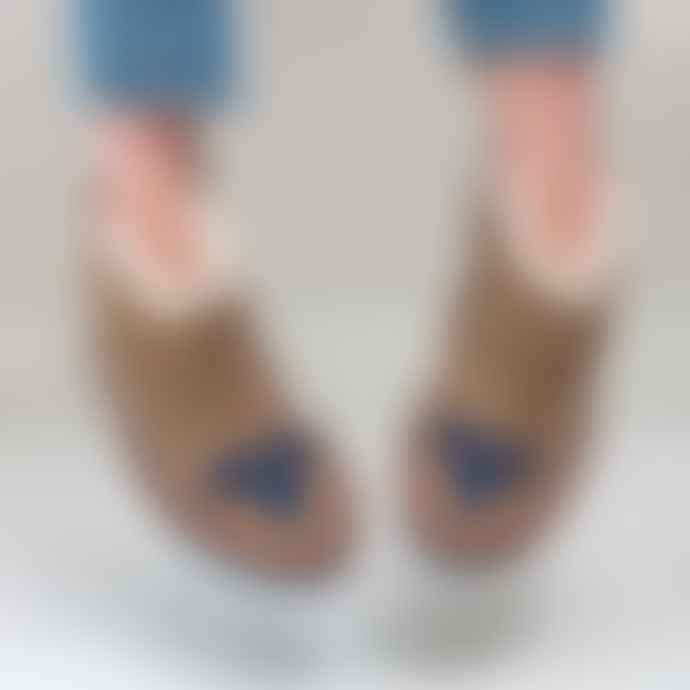 The Small Home Mini Moccasin Boots Sand Midnight