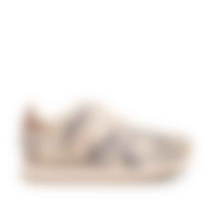 Woden Ydun II Snake Print Trainers in Off White