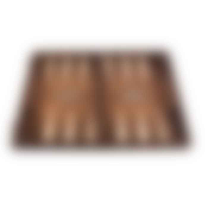 Manopoulos Backgammon Walnut Burl