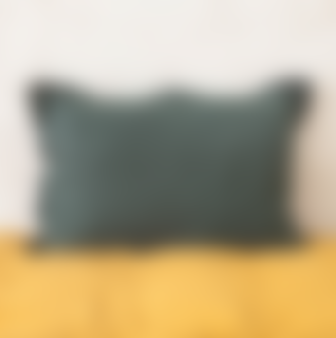Balakata 40 x 60cm Green Petrol Linen Cushion Cover
