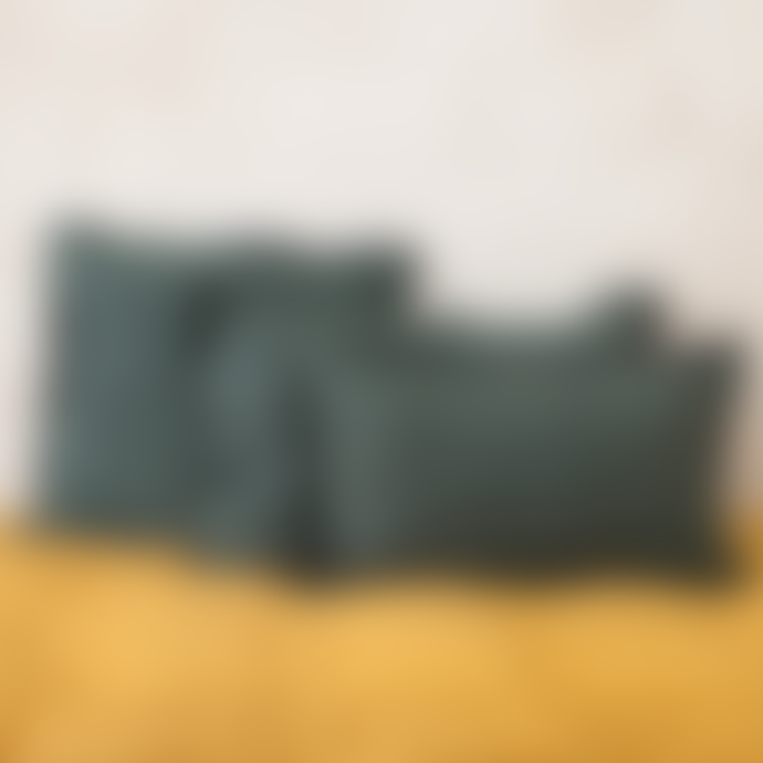 Balakata 30 x 50cm Green Petrol Linen Cushion Cover