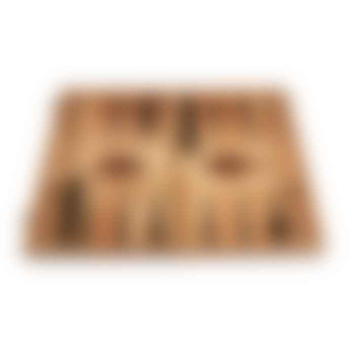Manopoulos Backgammon Olive Burl