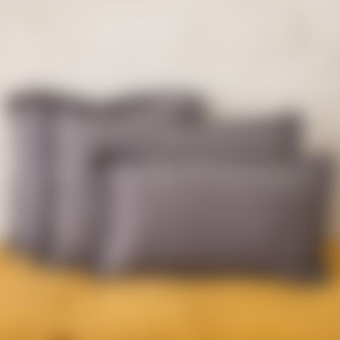 Balakata 40 x 60cm Dark Grey Linen Cushion Cover