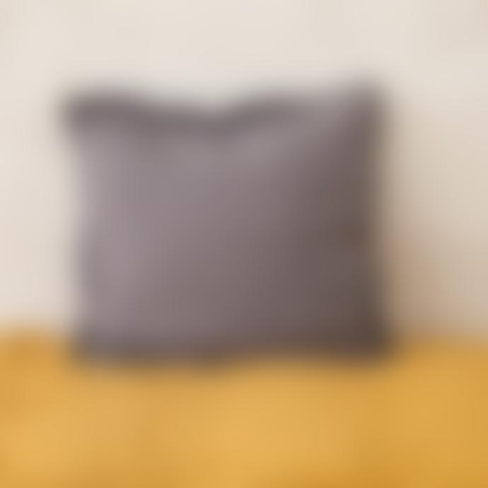 Balakata 45 x 45cm Dark Grey Linen Cushion Cover