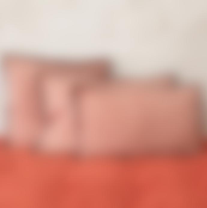 Balakata 30 x 50cm Red Linen Jaipur Printed Cushion Cover