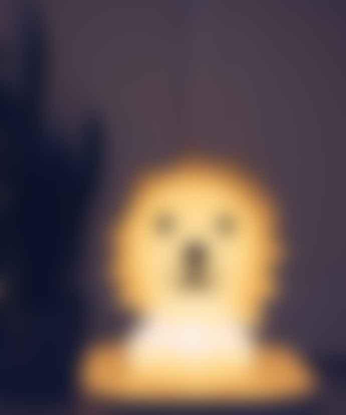 Mr Maria Yellow Lion Childrens Lamp