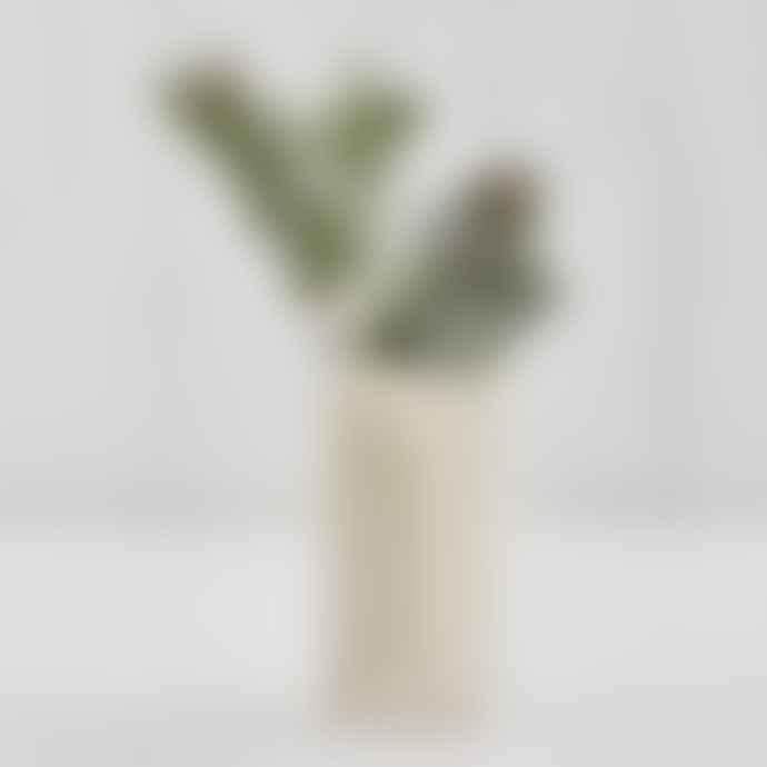 Stolen Form Brick Vase White