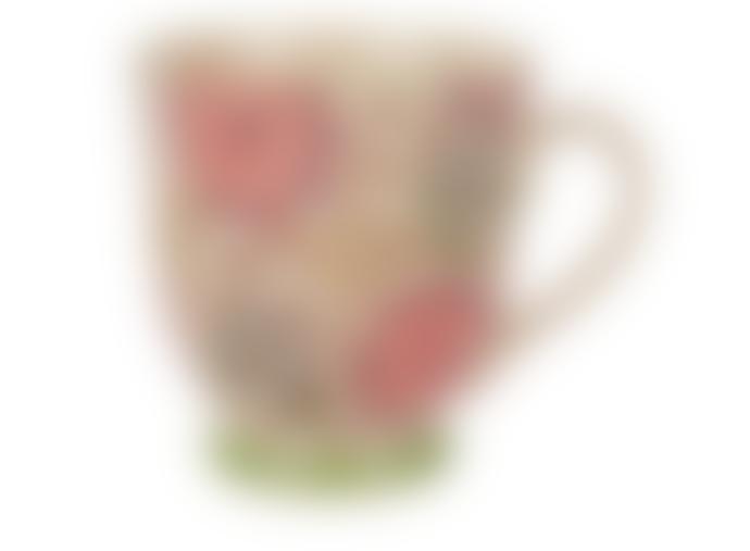 Hyde And Seek Green Floral Patterned Mug