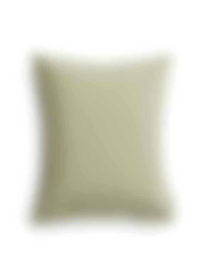 AB Småland 50 x 60 cm Green Organic Cotton Crinkle Pillowcase