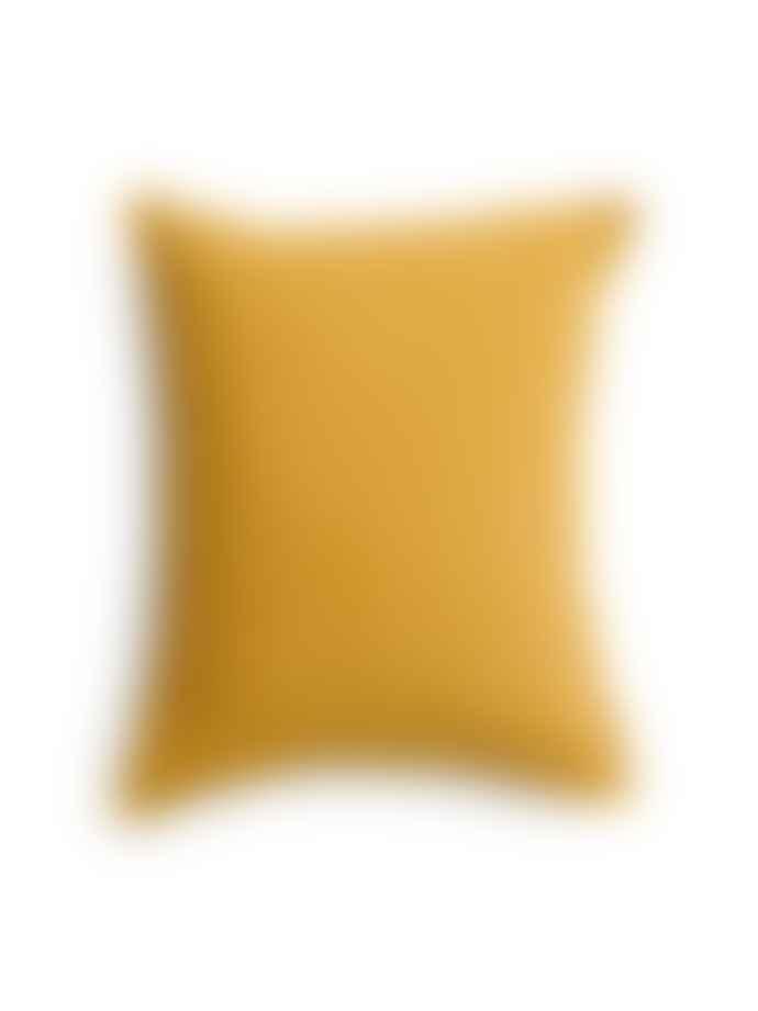 AB Småland 50 x 60 cm Mustard Gold Organic Cotton Crinkle Pillowcase