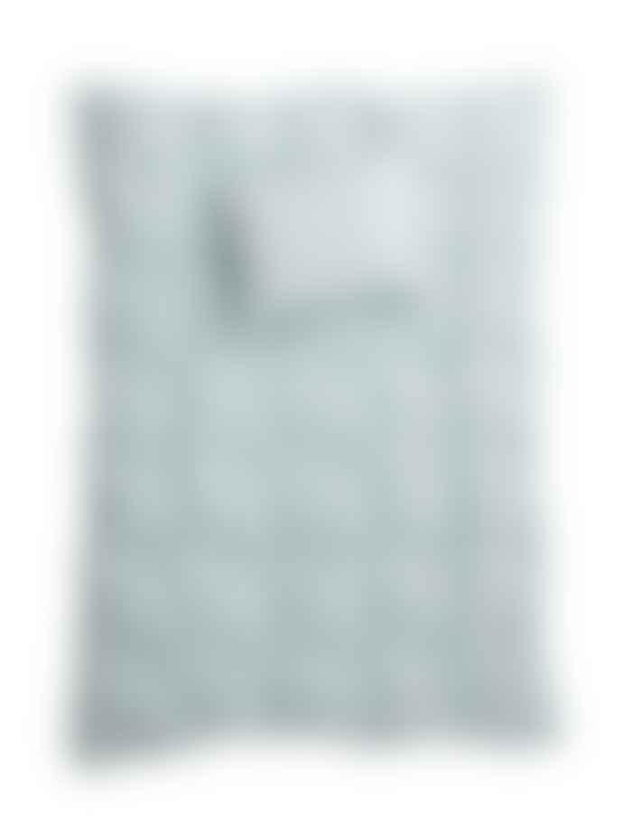 AB Småland 150 x 210 cm Sky Organic Cotton Single Crinkle Duvet Cover Set