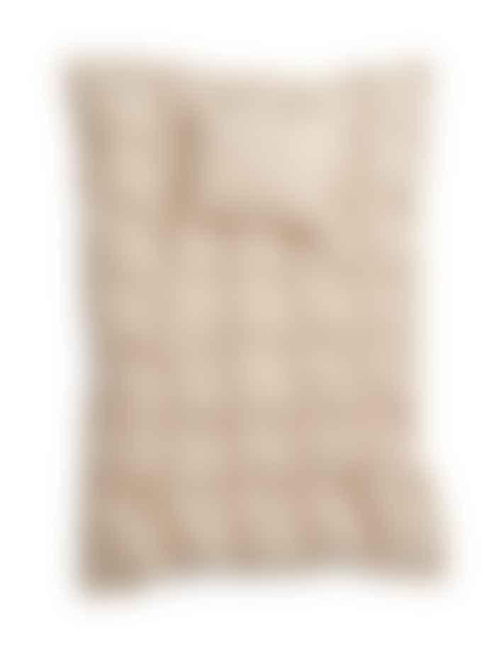 AB Småland 220 x 230 cm Sand Organic Cotton Double Crinkle Duvet Cover Set