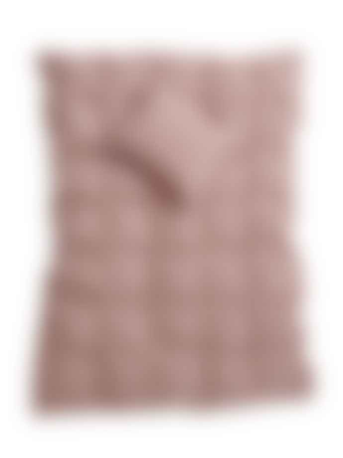 AB Småland 230 x 220 cm Rose Taupe Organic Cotton Double Crinkle Duvet Cover Set