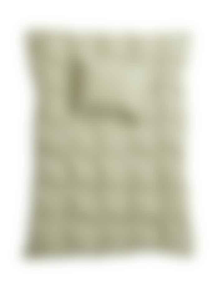 AB Småland 150 x 210 cm Green Organic Cotton Single Crinkle Duvet Cover Set