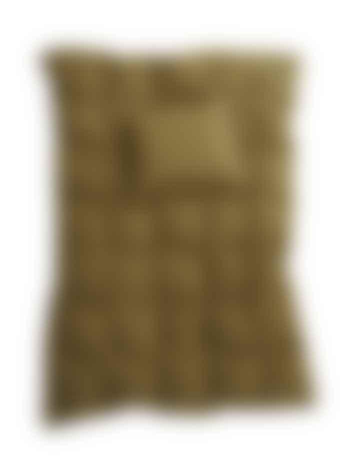 AB Småland 230 x 220 cm Moss Green Organic Cotton Double Crinkle Duvet Cover Set