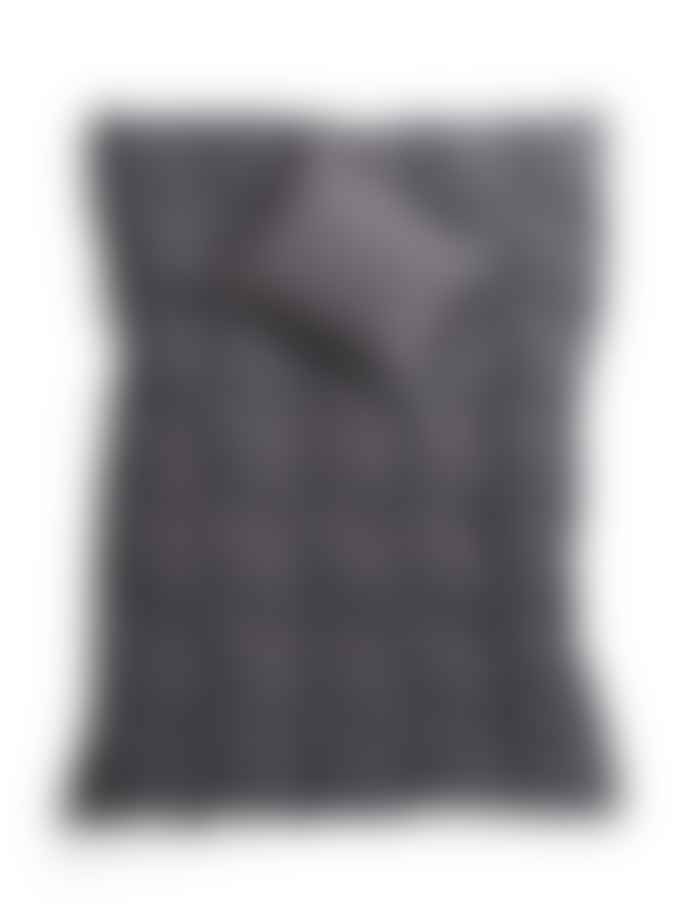AB Småland 230 x 220 cm Dark Grey Organic Cotton Double Crinkle Duvet Cover Set