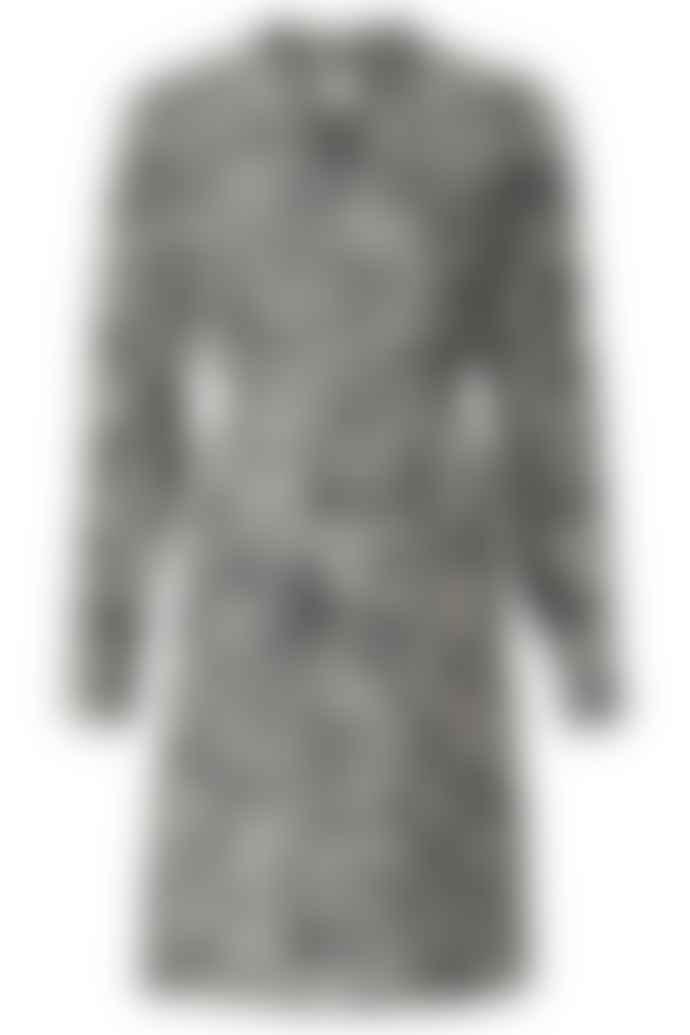 Yaya YaYa Belted Midi Dress with Ruffle V Neck