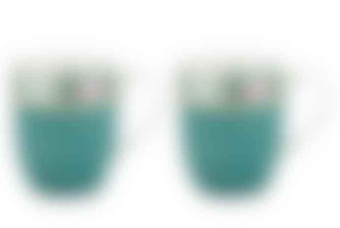 Pip Studio Set of 2 Small Blue Blushing Birds Mugs