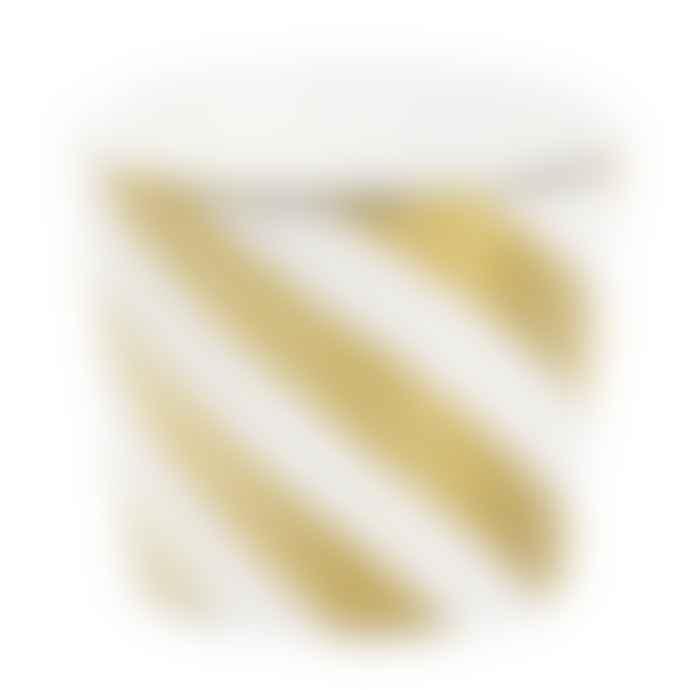 Miss Etoile Ceramic Golden Stripes Pot