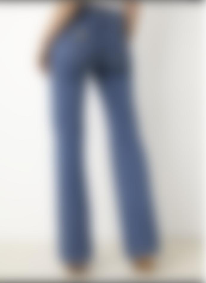 Lois Jeans Gaucho Zip Jeans in Caspar Blue