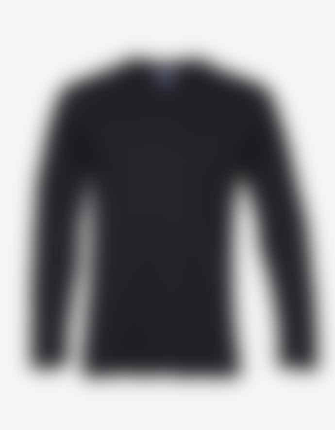 Colorful Standard T Shirt Manches Longues Noir En Coton Bio Deep Black