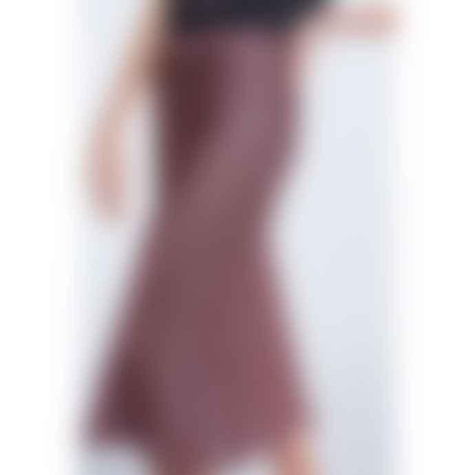 Set Fashion Pink Ditsy Floral Midi Skirt